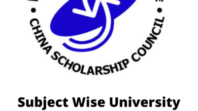 Photo of Subject Wise University List Under Chinese Government Scholarships