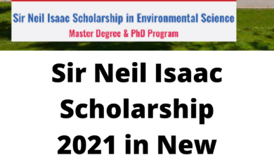 Photo of Sir Neil Isaac Scholarship 2021 in New Zealand – Funded
