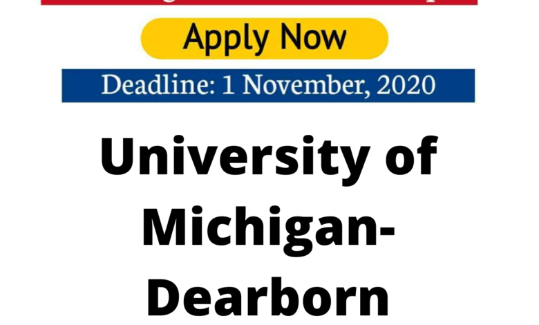 University of Michigan-Dearborn Scholarship 2020 in the USA