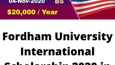 Photo of Fordham University International Scholarship 2020 in the United States