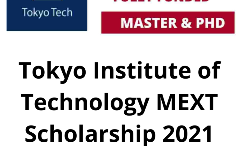 Tokyo Institute of Technology MEXT Scholarship 2021 in Japan - Fully Funded