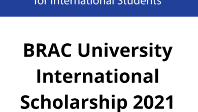 Photo of BRAC University International Scholarship 2021 in Bangladesh – Funded
