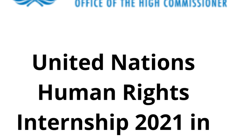 United Nations Human Rights Internship 2021