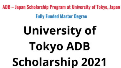 Photo of University of Tokyo ADB Scholarship 2021 in Japan – Fully Funded