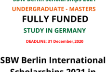 Photo of SBW Berlin International Scholarships 2021 in Germany – Fully Funded
