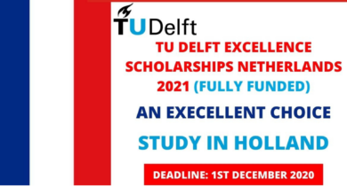 Photo of TU Delft Excellence Scholarship 2021 in the Netherlands – Fully Funded