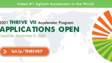 Photo of THRIVE VII Accelerator Program 2021 For Seed-Stage AgriTech Startups