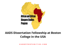 Photo of AADS Dissertation Fellowship at Boston College in the USA