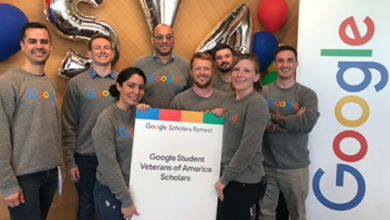 Photo of 2021 Google-SVA funding for Student Veterans in Computer Science in the USA