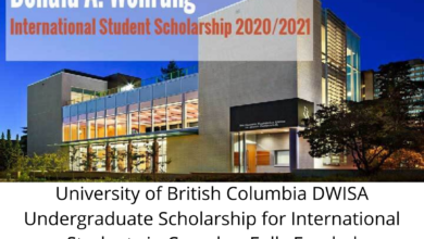 Photo of University of British Columbia DWISA Undergraduate Scholarship for International Students in Canada – Fully Funded
