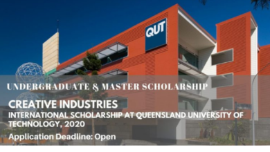 Photo of Creative Industries International Scholarship at Queensland University of Technology, 2020