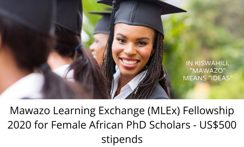 Mawazo Learning Exchange (MLEx) Fellowship 2020 for Female African PhD Scholars
