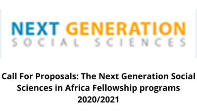 Photo of Call For Proposals: The Next Generation Social Sciences in Africa Fellowship programs 2020/2021
