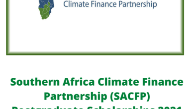 Photo of Southern Africa Climate Finance Partnership (SACFP) Postgraduate Scholarships 2021