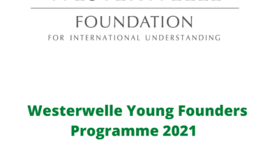 Photo of Westerwelle Young Founders Programme 2021  – Apply Now