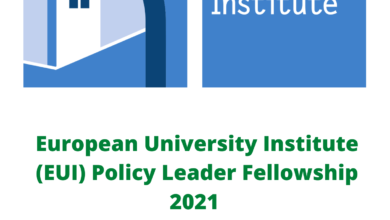 Photo of European University Institute (EUI) Policy Leader Fellowship 2021 – FullyFunded With €2500 Monthly Grant & A Trip To Italy