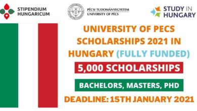 Photo of University of Pecs Hungarian Scholarships 2021 in Hungary – Fully Funded
