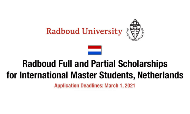 Radboud University Scholarships 2021