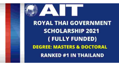 Photo of Royal Thai Government Scholarships 2021 in Thailand – Fully Funded