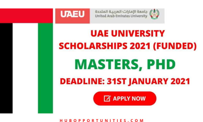 United Arab Emirates University Scholarships 2021