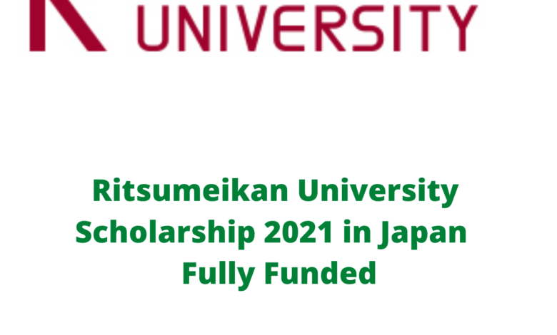 Ritsumeikan University Scholarship 2021