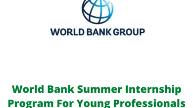 Photo of World Bank Summer Internship Program For Young Professionals 2021 ( Paid Internship)