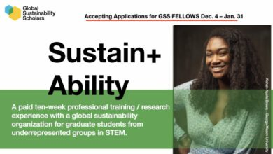 Photo of Global Sustainability Scholars Fellows Program 2021 – $8,000 Stipends