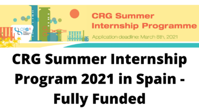 Photo of CRG Summer Internship Program 2021 in Spain – Fully Funded