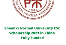 Photo of Shaanxi Normal University CSC Scholarship 2021 in China – Fully Funded