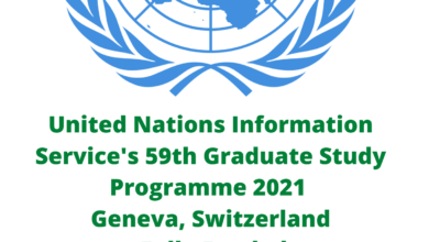 Photo of United Nations Information Service's 59th Graduate Study Programme 2021 – Geneva, Switzerland