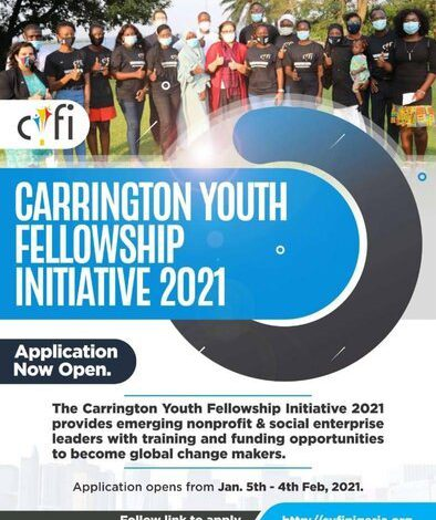 Carrington Youth Fellowship Initiative 2021 For Nonprofits and Social Enterprise Leaders