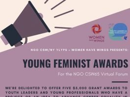 Photo of NGO CSW65 Forum Young Feminist Awards 2021 – $5,000 Grant