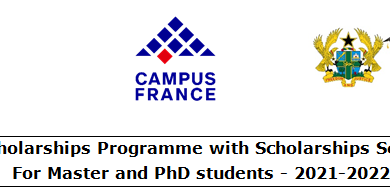Photo of France Master's Degree & Ph.D. Scholarship Programmes 2021-2022 For Ghanaian Students