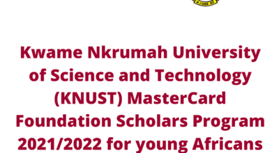 Photo of Kwame Nkrumah University of Science and Technology (KNUST) MasterCard Foundation Scholars Program 2021/2022 for young Africans – Fully Funded