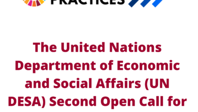 Photo of The United Nations Department of Economic and Social Affairs (UN DESA) Second Open Call for SDG Good Practices