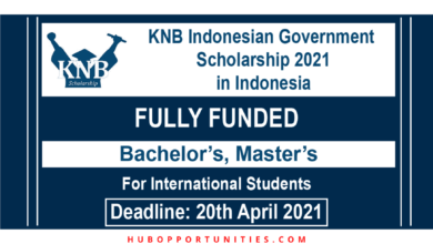 Photo of KNB Indonesian Government Scholarship 2021 in Indonesia – Fully Funded