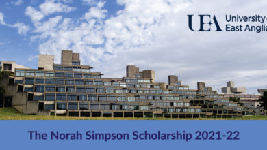 Photo of The Norah Simpson Scholarship in UK 2021