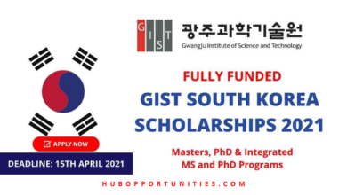 Photo of GIST International Scholarships 2021 in South Korea – Fully Funded