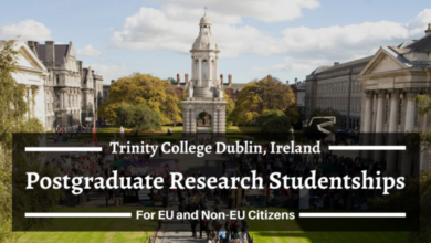 Photo of Trinity College Dublin Postgraduate Research Scholarships  in Ireland, 2021 – Funded