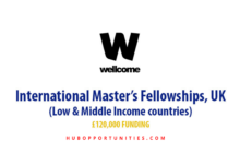 Photo of Wellcome International Master's Fellowships 2021 in the UK – Fully Funded