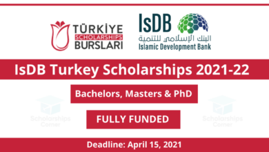 Photo of IsDB Turkiye Joint Scholarship 2021 in Turkey – Fully Funded
