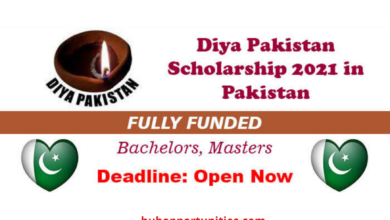 Photo of Diya Pakistan Scholarship 2021 in Pakistan – Fully Funded