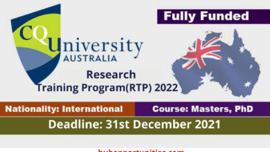 Photo of Central Queensland University RTP Scholarship 2022 in Australia – Fully Funded