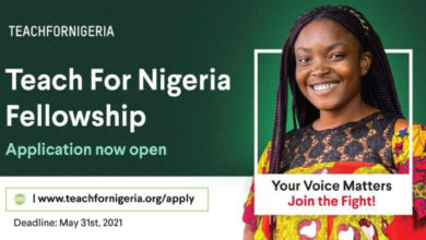 Photo of Teach for Nigeria Paid Fellowship 2021