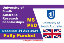 Photo of University of South Australia Research Scholarships 2022 – Fully Funded