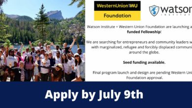 Photo of Watson Institute-Western Union Foundation Accelerator and Fellowship 2021 for – Fully Funded